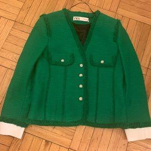 NWT Zara Green Blazer Sz S